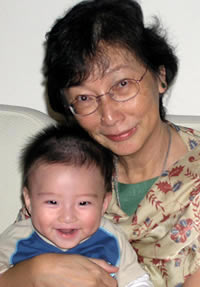 Dr Khoo Kim Choo with grandson, Matthew